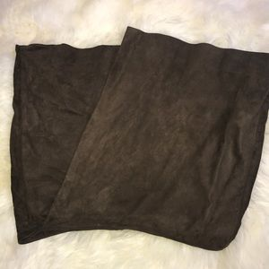 Vince Small Suede Brown Skirt